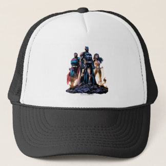 Superman, Batman, & Wonder Woman Trinity Trucker Hat