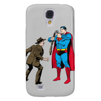 Superman bends a gun galaxy s4 case