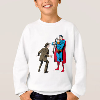 Superman bends a gun sweatshirt