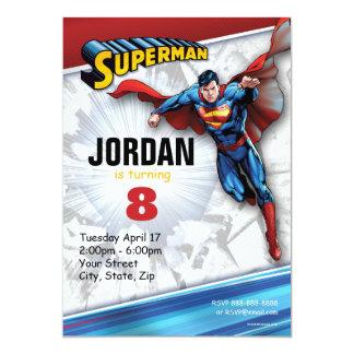 Superman Birthday 13 Cm X 18 Cm Invitation Card