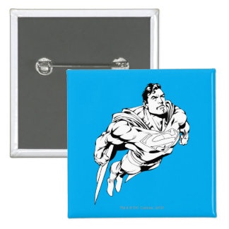 Superman Black and White 1 15 Cm Square Badge