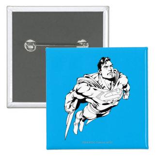 Superman Black and White 1 15 Cm Square Badge
