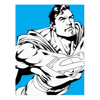 Superman Black and White 1 Postcard