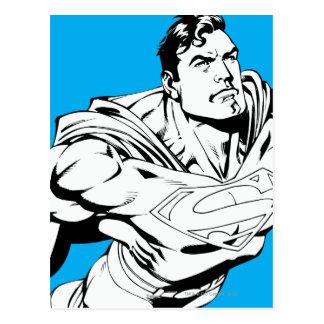 Superman Black and White 1 Postcard