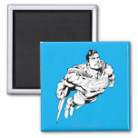 Superman Black and White 1 Square Magnet