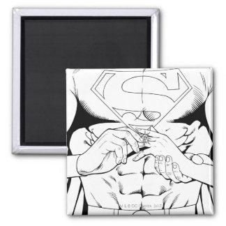 Superman Black and White 3 Magnet