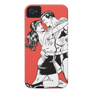 Superman Black and White 4 iPhone 4 Case-Mate Case