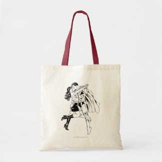 Superman Black and White 4 Tote Bag