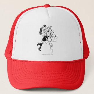 Superman Black and White 4 Trucker Hat