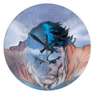 Superman - Blue Large Clock