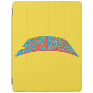 Superman | Blue Red Letters Logo iPad Smart Cover