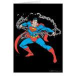 Superman Breaks Chains 2 Greeting Card