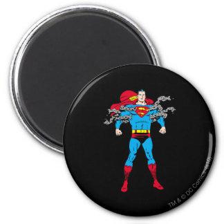 Superman Breaks Chains 6 Cm Round Magnet