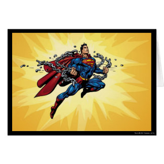 Superman breaks chains card