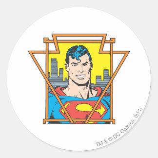 Superman Bust Classic Round Sticker