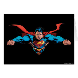 Superman cape flies card