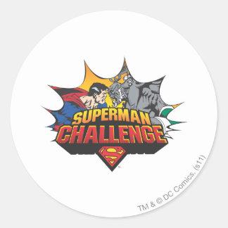 Superman Challenge Classic Round Sticker
