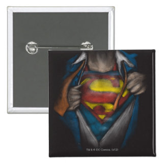 Superman | Chest Reveal Sketch Colorized 15 Cm Square Badge