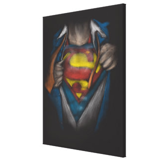 Superman | Chest Reveal Sketch Colorized Canvas Print