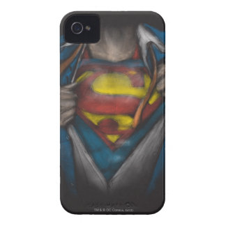 Superman | Chest Reveal Sketch Colorized iPhone 4 Cases