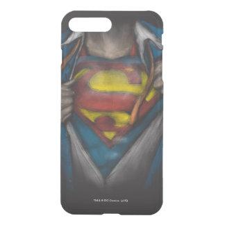 Superman | Chest Reveal Sketch Colorized iPhone 8 Plus/7 Plus Case