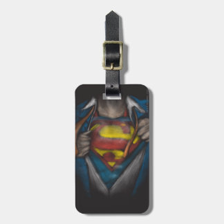 Superman | Chest Reveal Sketch Colorized Luggage Tag