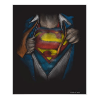 Superman | Chest Reveal Sketch Colorized Poster