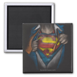 Superman | Chest Reveal Sketch Colorized Square Magnet