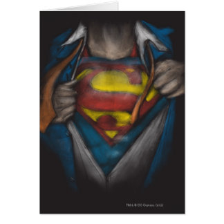 Superman Chest Sketch 2 Greeting Card