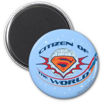 Superman Citizen of the World 6 Cm Round Magnet