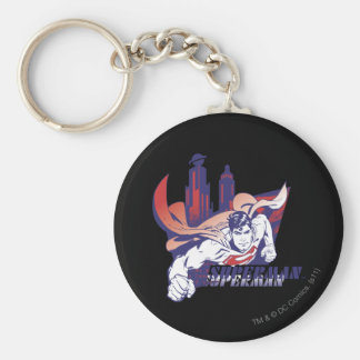 Superman City and Name Key Ring