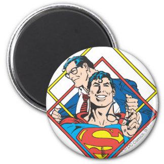 Superman/Clark Kent 6 Cm Round Magnet