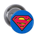 Superman Classic Logo 6 Cm Round Badge