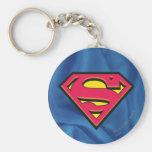 Superman Classic Logo Basic Round Button Key Ring
