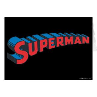 Superman | Classic Logo Greeting Card