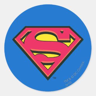 Superman Classic Logo Round Sticker