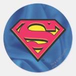 Superman Classic Logo Round Stickers