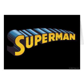 Superman | Classic Name Logo Greeting Card