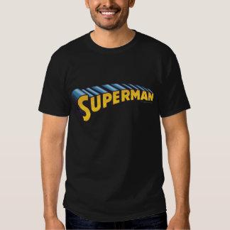 Superman   Classic Name Logo Shirt