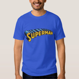 Superman | Classic Name Logo T Shirts