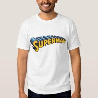 Superman   Classic Name Logo Tshirt