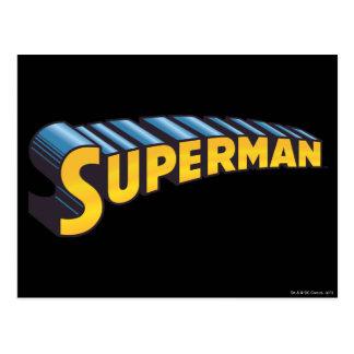 Superman Classic Name Postcard