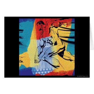 Superman Colorful Card