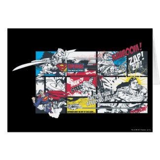 Superman Comic Book Collage Greeting Card