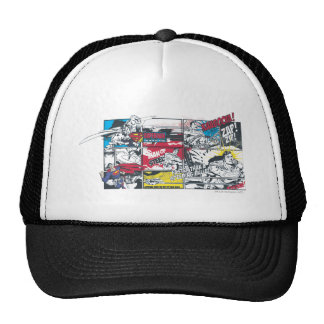 Superman Comic Book Collage Hats