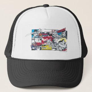 Superman Comic Book Collage Trucker Hat