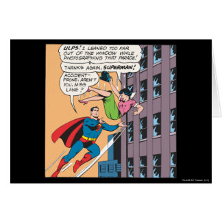 Superman Comic Panel - Accident-Prone Lois Card
