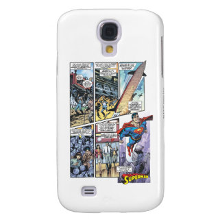 Superman Comic Panel - Clark's Origins 2 Galaxy S4 Case