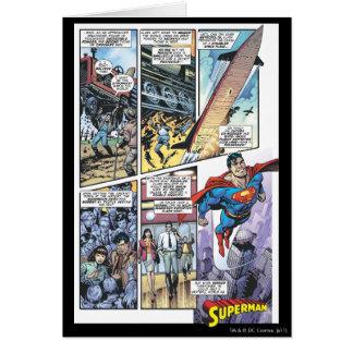 Superman Comic Panel - Clark's Origins 2 Greeting Card