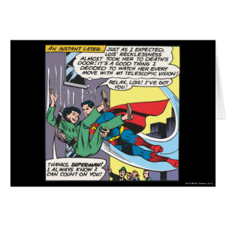 Superman Comic Panel - Lois An Instant Later Greeting Card